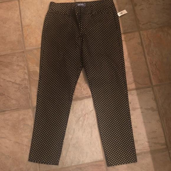 0087f33302c0ff Old Navy Pants | Black And Gold Polka Dot Pixie | Poshmark